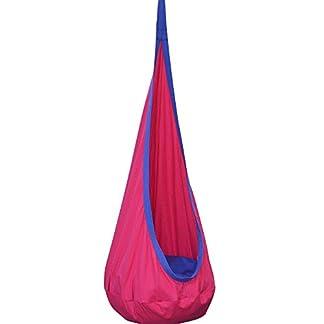 Eggdel niños Pod Swing silla plegable para colgar hamaca asiento interior y al aire libre (Magenta)