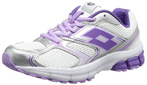 Lotto Zenith Vii W, Chaussures de course femme Blanc - Weiß (WHT/VIOLET)