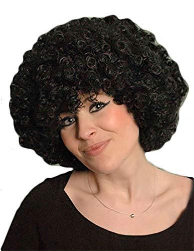 Hi Fashionz Afro Fancy Dress Per�cken Disco Clown Stil Unisex 70S Lockiges Haar Kost�m Zubeh�r Schwarz One Size