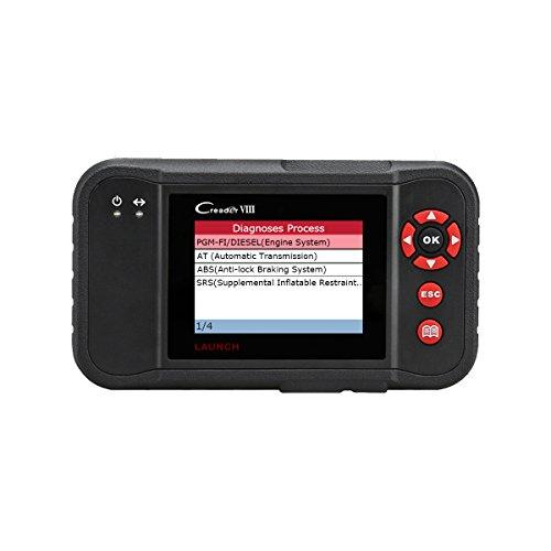 LAUNCH Creader VIII CRP129 OBD2 / EOBD-Scanner für alle Systeme Motor/ABS/SRS/Getriebe, vollständige OBD2-Funktionen Auto-Codeleser, Zurücksetzen SAS/EPB/Öllampe Kostenloses Update
