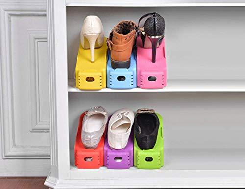 Salamii Schuhregal, einteilig, verstellbar, für Zuhause, Mehrfarbig, Plastik, violett, 25x10cm