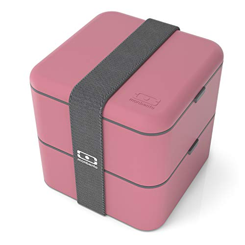monbento Square Bento Box, Kunststoff, Blush, 14 x 14 x 14 cm Bento Box Case
