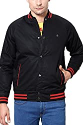 Peter England Mens Cotton Jacket (8907306771172_EOW51500514_Small_Dark Red with Red)
