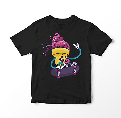 Hip Ice Scream Loves Street Life And Skateboarding Jungen Mädchen Kinder T-shirt 12A (Nike-dance-jersey)