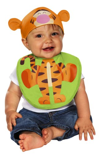 Winnie The Pooh Disney Tigger Hat & Bib Child Infant Costume 0-6 Months