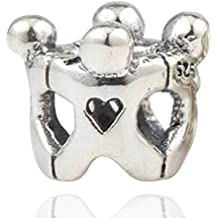 Círculo de mejores amigos encanto genuino de Soulbead, plata 925, ley amistad para joyas y pulseras compatibles europeas