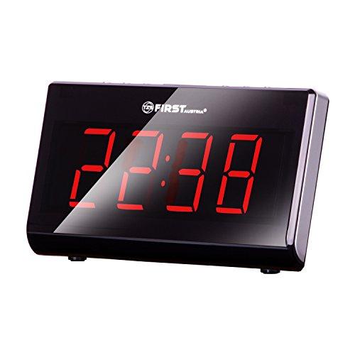 Radiowecker | 4,5cm großen Ziffern | LED-Display dimmbar und abschaltbar | 10 Senderspeicher | Flexible Tageswahl | Nap-Funktion | Snooze-Funktion | Einschlaffunktion | 2 integrierte Wecker und Radio