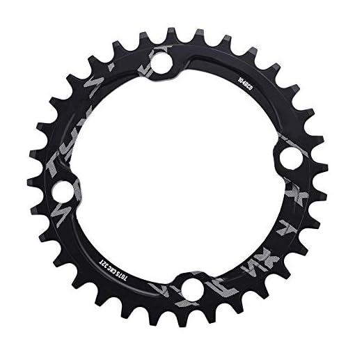 Dioche Corona Ovale, 32/34/36/38T 104mm BCD Corona per Catena Bicicletta MTB Corona Singola(36T-Nero)