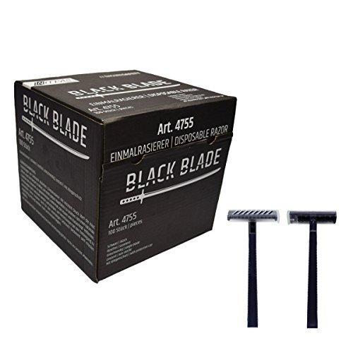 Nitras Medical Einmalrasierer BLACK BLADE, 100 Stück schwarz rostfrei