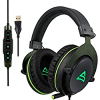 HUANGMENG Boutique SUPSOO G817 USB Surround Stereo Gaming Headset Wired Music Headphone with Volume Control & Rotating Mic for PC, Laptop HUANGMENG