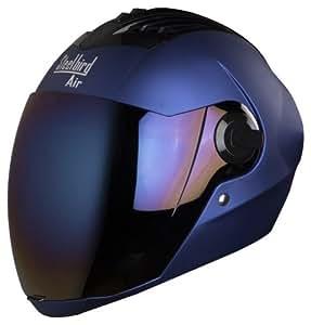Steelbird Air SBA-2 Full Face Helmet with Visor (Matt Yamaha Blue/Iridium Blue, L)