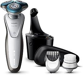 Philips S7780/64 Serie 7000 Rasoio elettrico AquaTec Wet & Dry + Rifinitore precisione ed Esclusiva Spazzola per la pulizia + Sistema SmartClean
