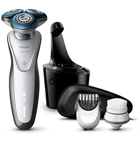 Philips Séries 7000 S7780/64 Rasierer und Haarschneider, inkl. Reinigungsbürste und Hülle, Präzisions-System, Super Lift and Cut-Technologie, SmartClean-Technologie, 100 % wasserdicht -