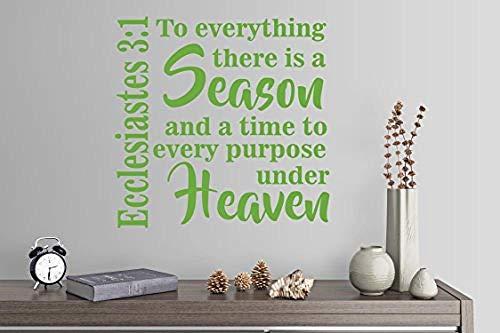 Prediger 3: 1 für alles Es gibt Jahreszeit und Zeit für jeden Zweck unter dem Himmel Wandtattoo Kunstwand Wohnkultur 24 x 24 cm