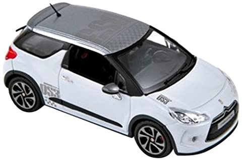 Norev - 155276 - Véhicule Miniature - Citroën DS3 Racing 2010 - White with Grey Roof - Echelle 1:43
