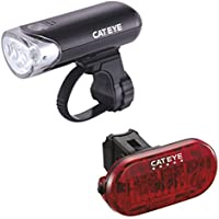 CatEye EL135/TL155 (Omni 5) Set-HL-EL135N/TL-LD155 Lights and Reflectors, Cycling - Black, NO SIZE