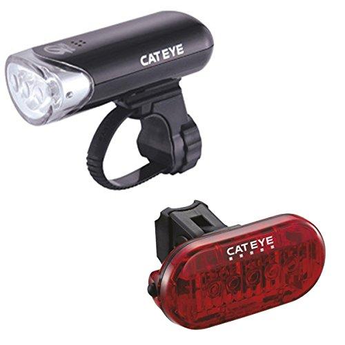 CatEye EL135/TL155 (Omni 5) Set-HL-EL135N/TL-LD155 Lights and Reflectors, Cycling - Black, NO SIZE