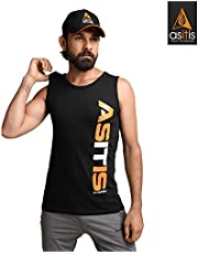 AS-IT-is Sleeveless Performance/Sports Cotton T-Shirt (M Si