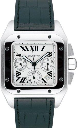 Cartier Santos 100XL para hombre acero reloj w20090X 8reloj de pulsera (reloj de pulsera)