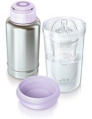 Philips Avent SCF256/00 Thermo-Flaschenwärmer für unterwesgs, edelstahl