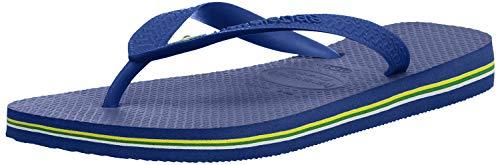 Havaianas Brasil, Chanclas Unisex Adulto, Azul Brasil Logo Marine Blue, 41/42 EU 39/40 BR