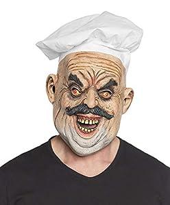 Boland 97574 Evil Chef - Máscara de Cabeza con Gorro de Cocinero