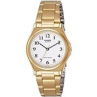 CASIO MTP-1130N-7B - Reloj analógico de cuarzo, para hombre, color blanco y dorado