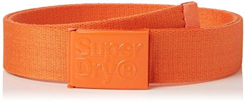 Superdry Solo, Cinturón para Hombre, Naranja (Hazard Orange), Talla Única (Talla del Fabricante: OS)