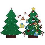 Aparty4u 3ft DIY árbol de Navidad de Fieltro con 26 Piezas Adornos extraíbles niños Decoraciones de Navidad año Decoraciones decoración de la Puerta Colgante