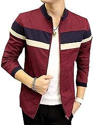 LD Mens Fashion Korean Long Sleeve Color Matching Jacket 3 XX-Large