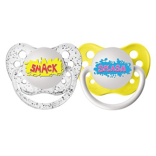 ulubulu-pacifiers-for-unisex-smack-and-splash-0-6-months-by-ulubulu