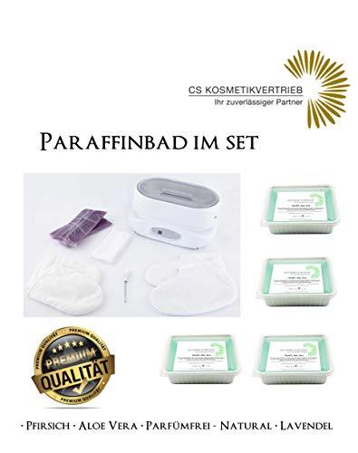 Paraffinbad/Wachserwärmer 3L Digital im Set inkl. 4x 750g Paraffinwachs Aloe Vera & Zubehör