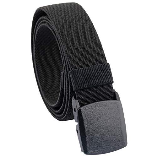 KYEYGWO Elastischer Stretch-Freizeitgürtel, Herren Tactical Hiking Belt aus Kunststoffschnalle