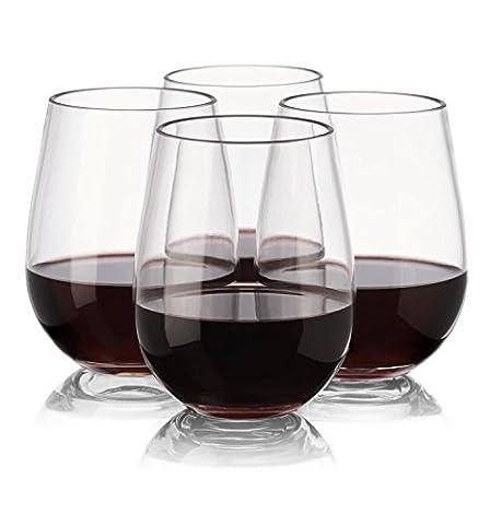 notmog–nicht aus Glas Tritan unzerbrechlich ohne Stiel Wein Gläser, Set von 4
