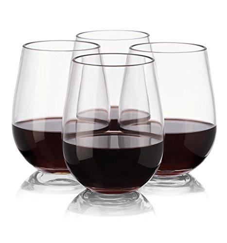 notmog?nicht aus Glas Tritan unzerbrechlich ohne Stiel Wein Gläser, Set von 4