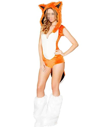 Imagen de halloween adulto traje disfraz animal mujer mini vestidos disfraces fiesta cosplay zorro disfraces animales orange un tamaño