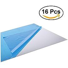 WINOMO Espejos de Pared Adhesivo 3D Pegatinas de Pared Calcomanías Espejos Decorativos Arte Mural Pared 15x15cm 16 Unidades