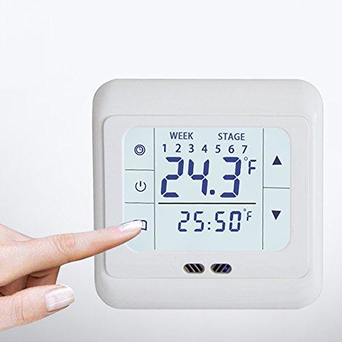 HOMYY - Controlador de Temperatura para Suelo cálido, Sistema de calefacción eléctrico,...