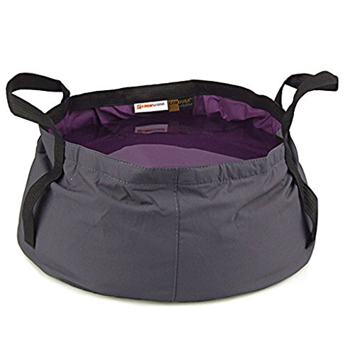 travel-outdoor-camping-hiking-folding-wash-basin-bucket-w-storage-pouch-12l-purple