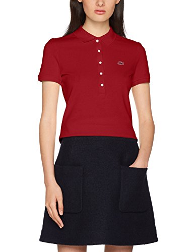 Lacoste Damen Poloshirt PF7845, Rouge (Andrinople), 42