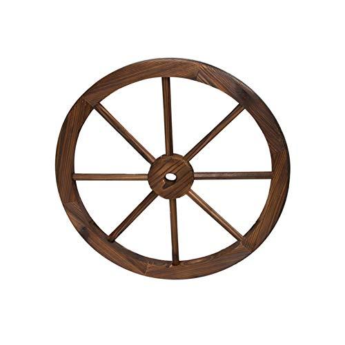 Rad aus Holz im Vintage-Stil mit Einem Durchmesser von 30 Zentimetern I Modell: 0965081 I Dekoratives Rad I Rad aus massivem Holz I Rollen für Rollwagen Antik I