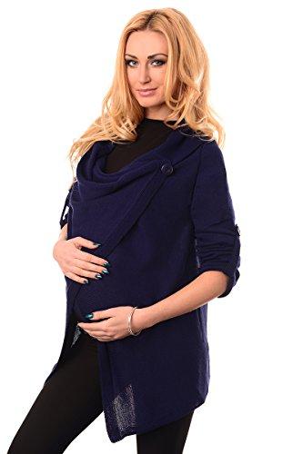 Purpless Maternity Modern Schwangerschaft Jacke Tragen 9005 Navy