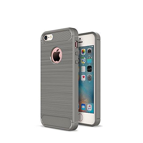 WindTeco iPhone 5 / 5S / SE Hülle - Premium Ultra Slim Leicht weiches TPU Protector Phone Case Handy Schutzhülle Schale Bumper für Apple iPhone 5 / 5S / SE