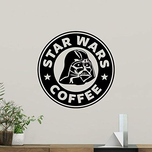 woyaofal Coffee Wall Decal Home Vader Vinyl Art Decor Home Nursery Decoration Design Star War Wall Art Mural 57x57cm