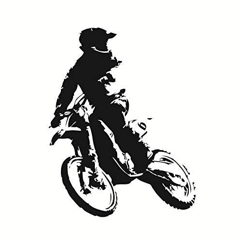 jiushizq Motor Stunt Motorrad Tapete Wohnkultur Zubehör Aufkleber Vinyl Selbstklebende Motorrad Wandtattoo Für58 cm X 75 (Tinkerbell Auto Zubehör)