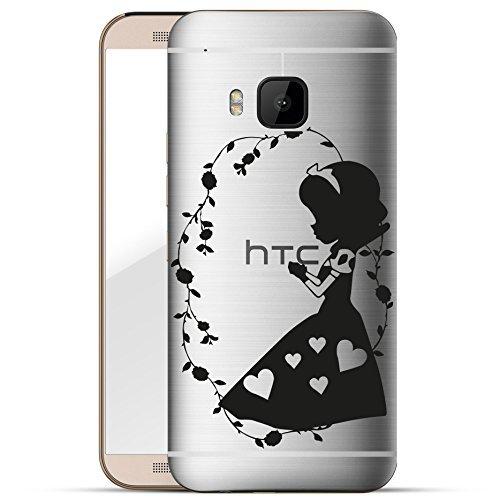 Finoo HTC one M9 Hard Case Handy-Hülle mit Motiv | dünne stoßfeste Schutz-Cover Tasche in Premium Qualität | Premium Case für Dein Smartphone| Mädchen hält Apfel