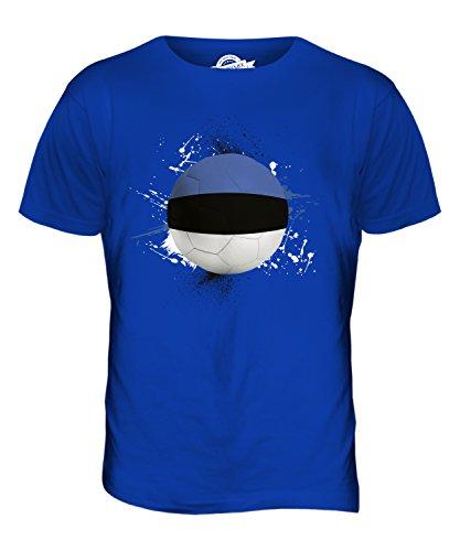 CandyMix Estland Fußball Herren T Shirt Königsblau