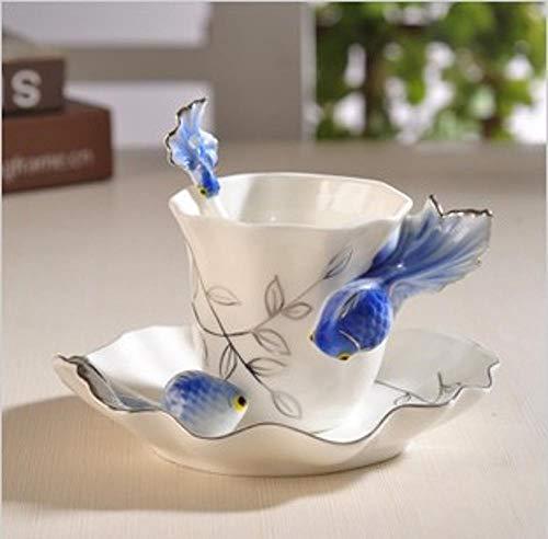Mayanyan Emaille Porzellan Handwerk kreative Tasse Keramik Kaffeebecher Set Hochzeitsgeschenk