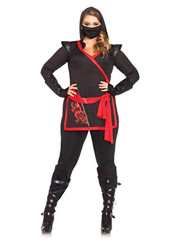 Leg Avenue 85422X - Ninja Assassin Damen kostüm, Größe 1X-2X ( EUR (Frau Assassine Kostüm)