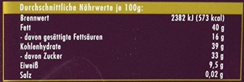 RITTER SPORT Dunkle Voll-Nuss Amaranth (10 x 100 g), Vegane Schokolade, mit ganzen Haselnüssen und Amaranth verfeinert, Halbbitterschokolade - 3